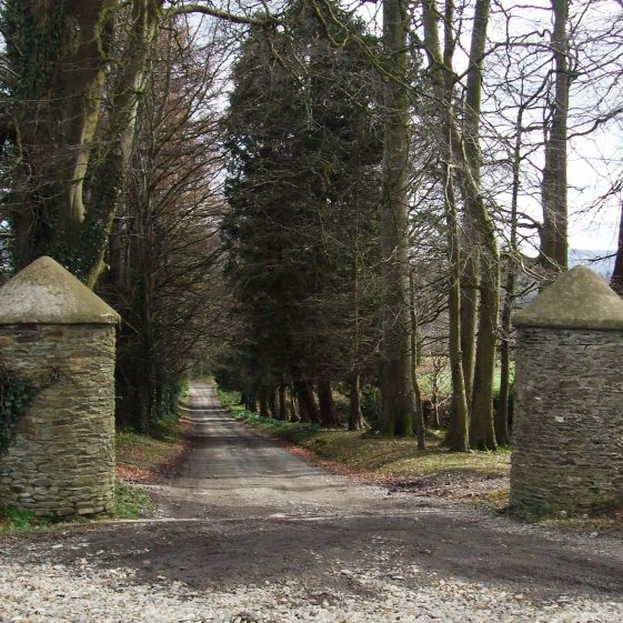 Two traditional gateposts with cone tops | Ballinglen Development Committee
