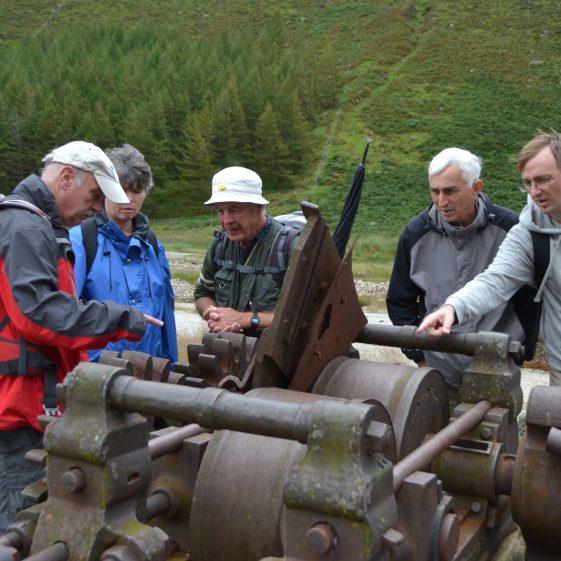Examining the crusher as part of the Glendalough Mining Heritage Day | Deirdre Burns