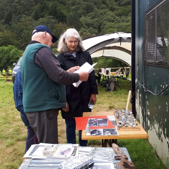 Former miner Robbie Carter at the Glendalough Heritage Forum Open Day   Wicklow Heritage Office