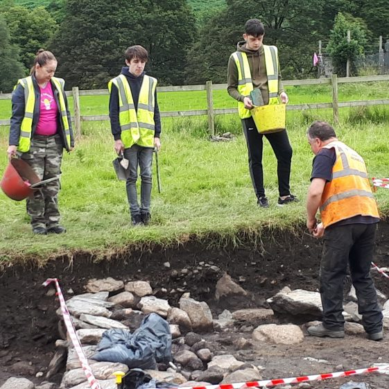 Participants on the Teen Volunteer Archaeological Excavation at Glendalough