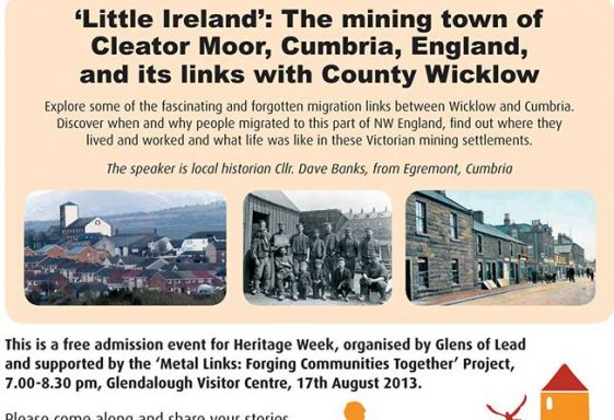 'Little Ireland' The Mining Town of Cleator Moor and its links with Wicklow
