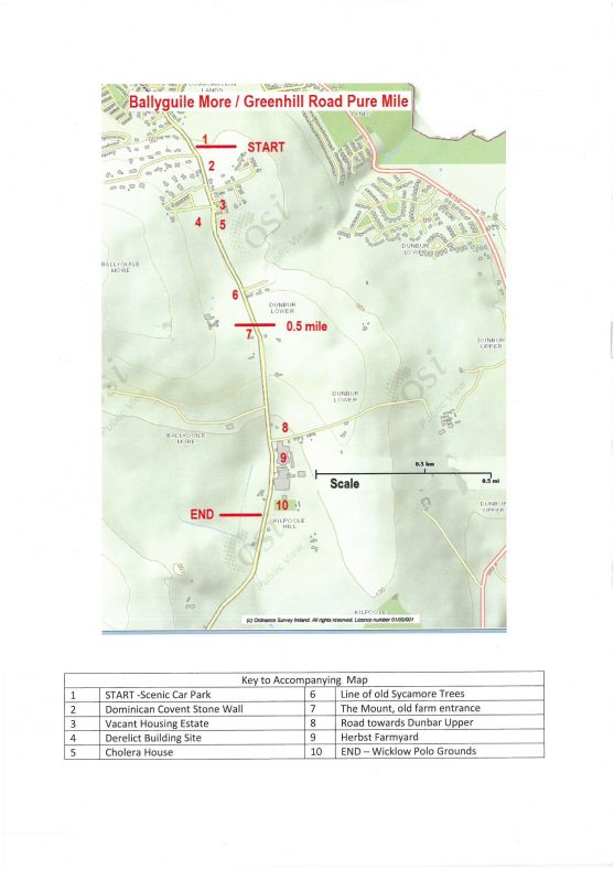 Map of mile | Ballyguile More Group