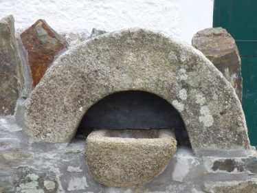 Holy Water Font outside St. Mary's Catholic Church in Stratford-on-Slaney Built in 1840's   Mary Hargaden September 2015