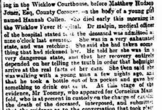 The Wicklow Town Poisoning Case.