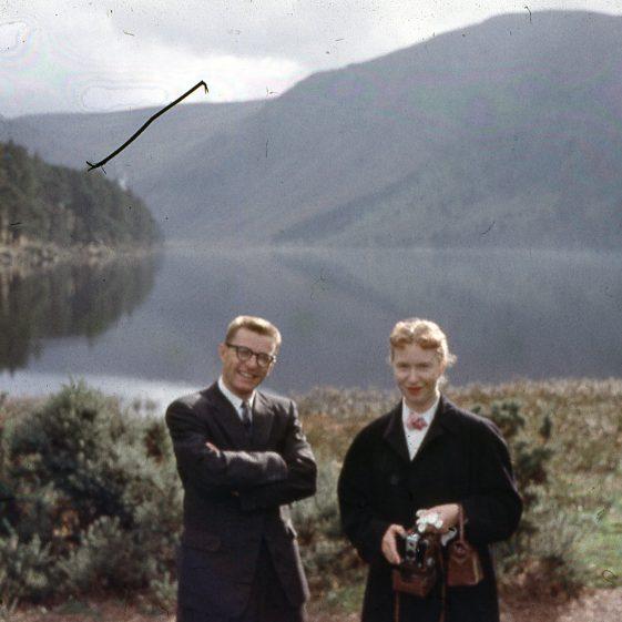 Visiting Glendalough's Upper Lake 1959