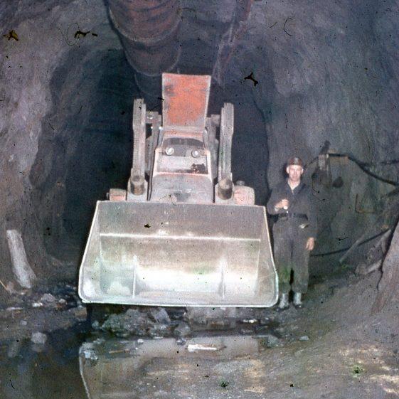 Man at work within mine (1956)