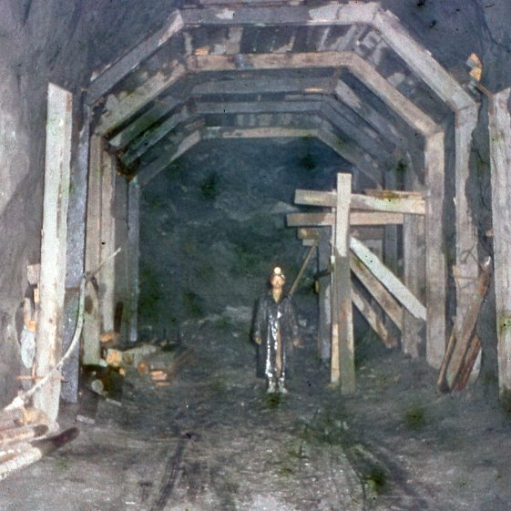 Unnamed worker in the depths of the Avoca mine