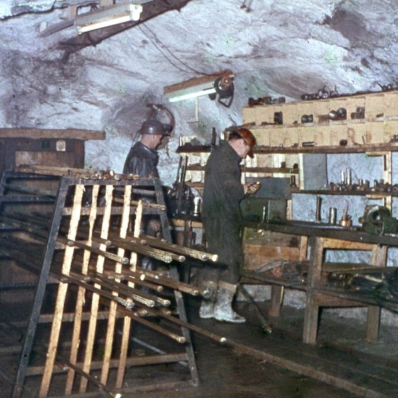 Miners at work in Avoca mine
