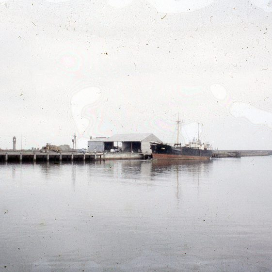 Arklow Port where ships were filled with Avoca's copper ore (1956)