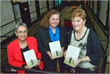 Dr Dianne Snowden; Australian Ambassador to Ireland Dr Ruth Adler and Joan Kavanagh at the book launch in Wicklow Gaol on 4th Nov. 2015