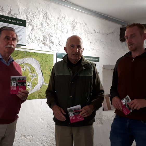 John O Toole, Donal O Donnell and Alan Hawkes, Archaeologist at Baltinglass Courthouse