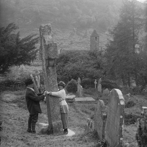 St. Kevin's Cross and Kitchen, Glendalough   National Library of Ireland