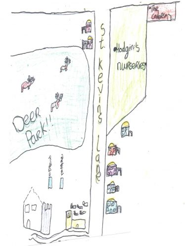 What Dunganstown main street might have looked like   By The Pupils Of Brittas Bay School 2014
