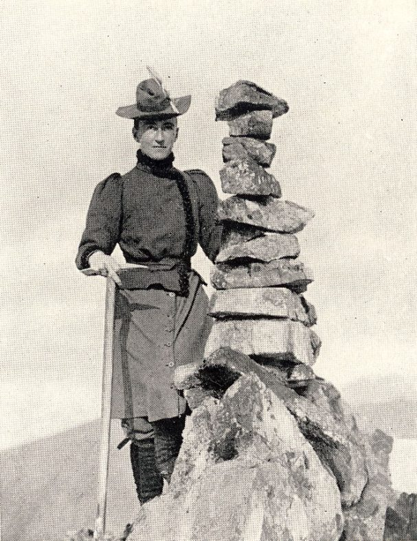 Lizzie Le Blond (nee Hawkins-Whitshed), alpinist, photographer, author