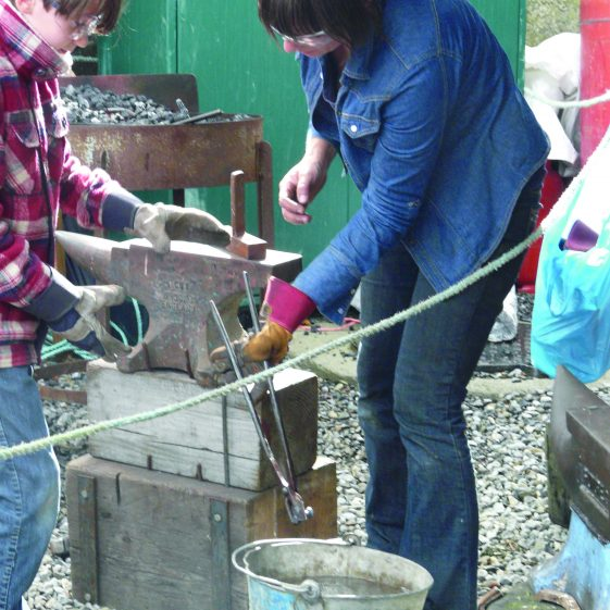 Making a rivet at Blacksmith's Forge In at Russborough | Mary Hargaden