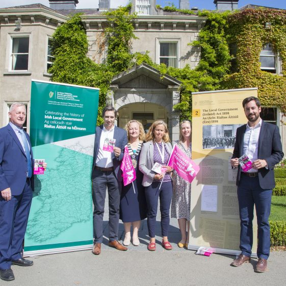 Ministers Simon Harris and Eoghan Murphy a Heritage Week launch event in Tinakilly
