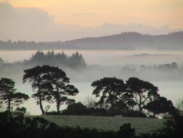 Misty view over reservoir | Roundwood Tidy Towns
