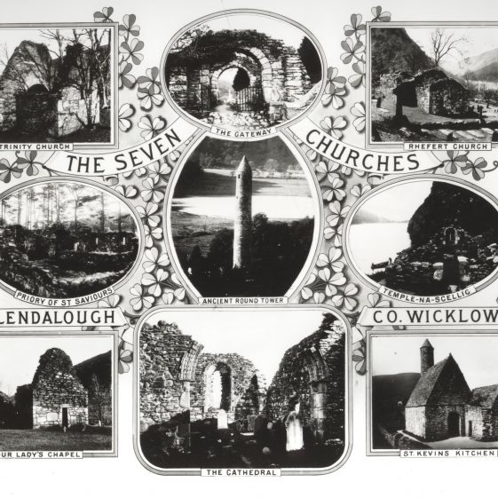 The Seven Churches, Glendalough, Co. Wicklow   National Library of Ireland