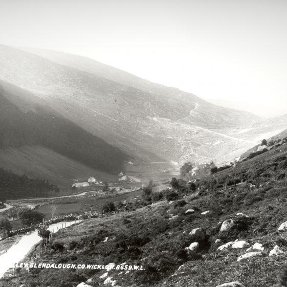 Valley at Glendalough, Co. Wicklow   National Library of Ireland