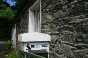 The Old Forge - close up of entrance   Newcastle Residents Association
