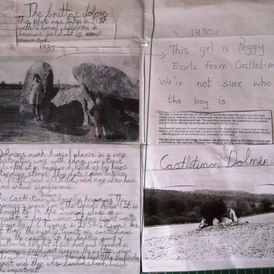 Old Photographs of the Local Dolmen | Castletimon National School