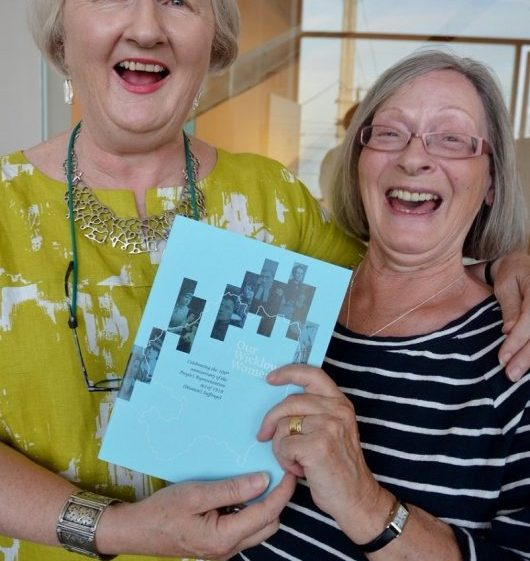 Liz Goldthorpe & Rosemary Raughter at launch of Our Wicklow Women Exhibition in Greystones library   Greystones Guide
