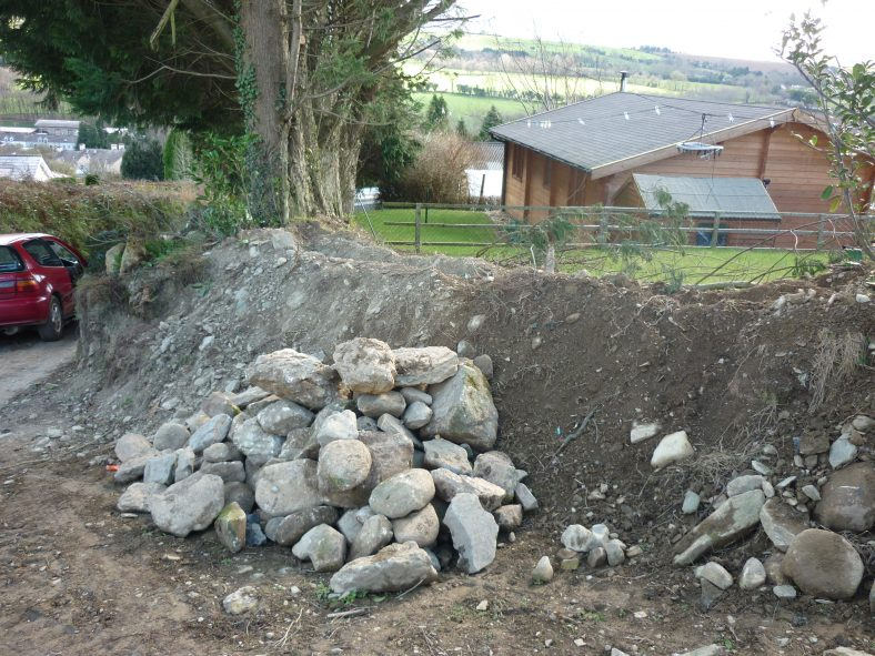 Preparing Bank for Wall | Aughrim Tidy Towns Limited
