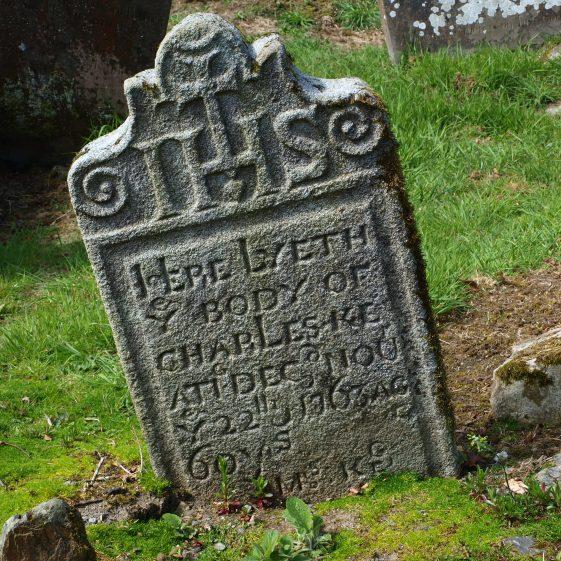 Granite headstone 1763, Preban Cemetery, Co. Wicklow