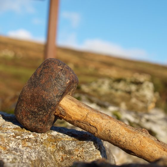 Stone hammer found at Mulhall family home Askanagap, Co. Wicklow.