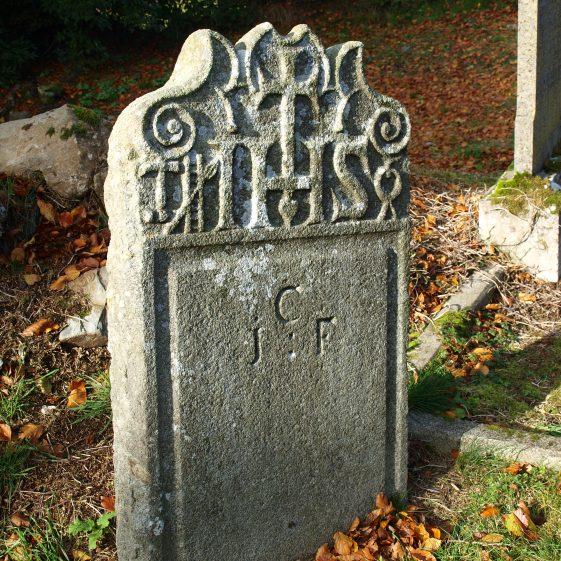 Late 18th century granite headstone, Preban Cemetery, Co. Wicklow