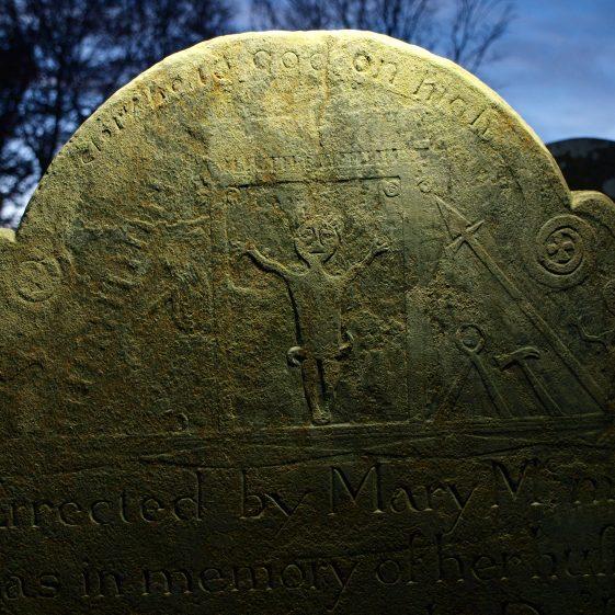 Late 18th century slate 'Mcmanas' headstone Preban cemetery, Co. Wicklow