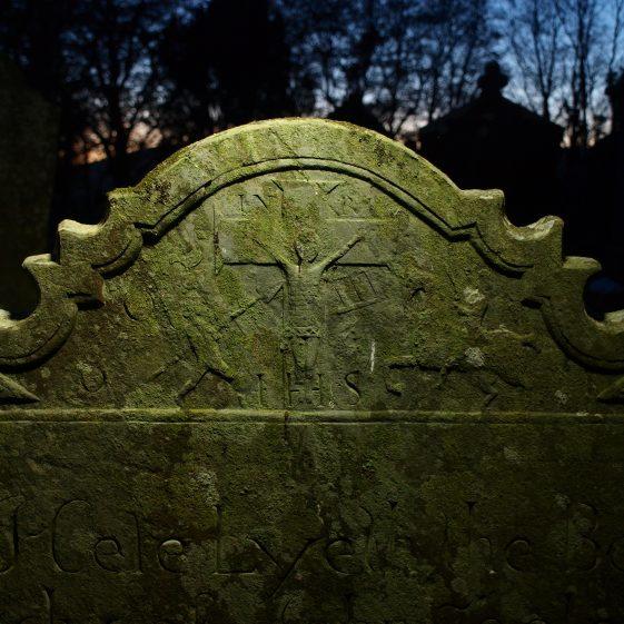 detail of John Toole headstone 1770, stonemason Denis Cullen, Preban cemetery, Co. Wicklow