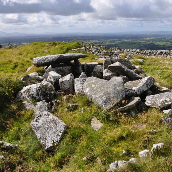 Remains of a passage tomb on the summit of Baltinglass Hill   Christiaan Corlett