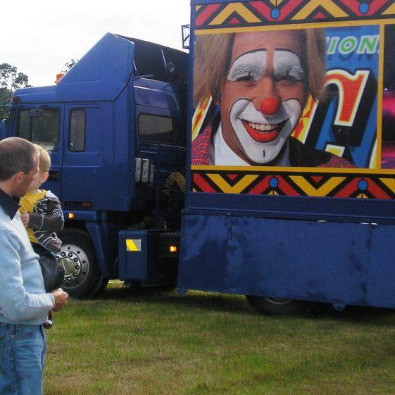 Clowns advertised for Fossetts circus | Ballinglen Development Committee