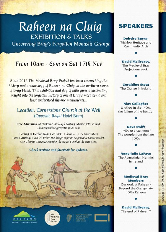 Medieval Bray Project: One  Day Event on 17th November
