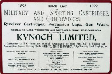 Price List of Kynoch Explosives | Pat Power - Kynoch Walk Information Board
