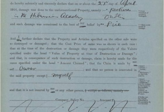 1916 Compensation Claims and the Property Losses Committee - A Wicklow Interest