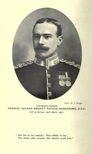 Lieutenant-Colonel Francis Savage-Armstrong   Poems: national and international (1917)