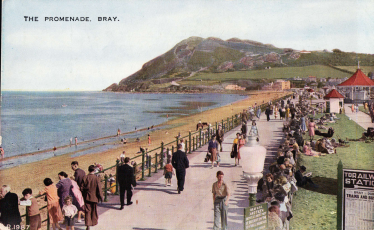 Postcard of the Promenade, Bray   Wicklow County Council Library Service