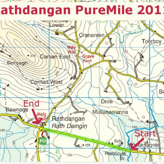 Location of Rathdangan Pure Mile   Rathdangan Community Council