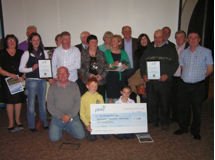 Receiving the Pure Mile award   Wicklow Way Group