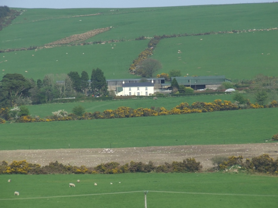 Rectory and old Post Office from across the fields   Wicklow Way Group