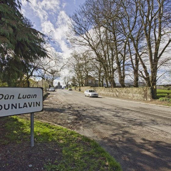 Road into Dunlavin with Market House in distance | Dunlavin Tidy Towns