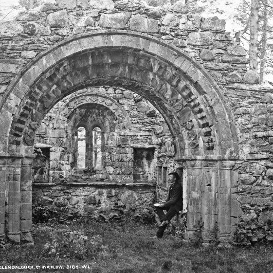 Church Ruins, Glendalough, Co. Wicklow   National Library of Ireland