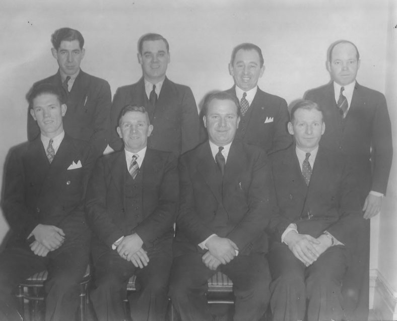 Last photo of John Donnelly, He is with the Wicklow Mens Association 10/1/1937 bottom row, 2nd from right