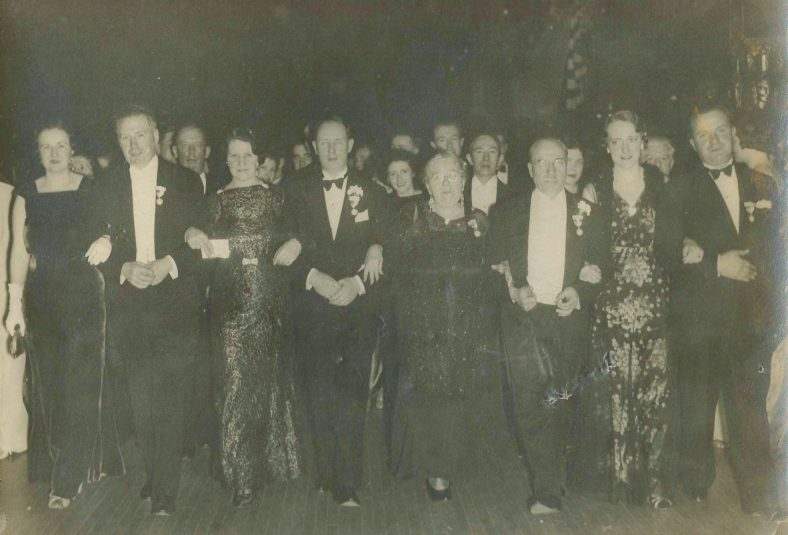 United Irish Counties Ball 8/1/1937 John Donnelly far right