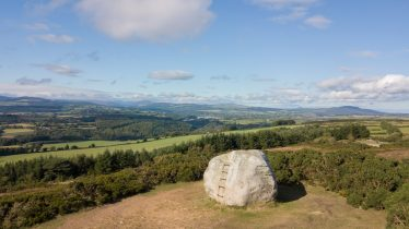 You can climb the steps to the top of the Mottee Stone for spectacular views