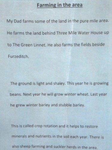 Farming in the Area | Brittas Bay National School
