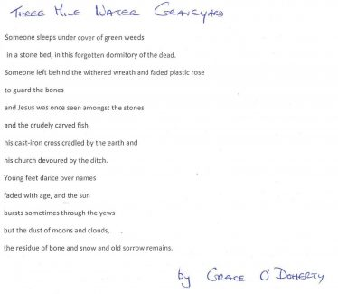Poem by Grace O'Doherty | Brittas Bay National School