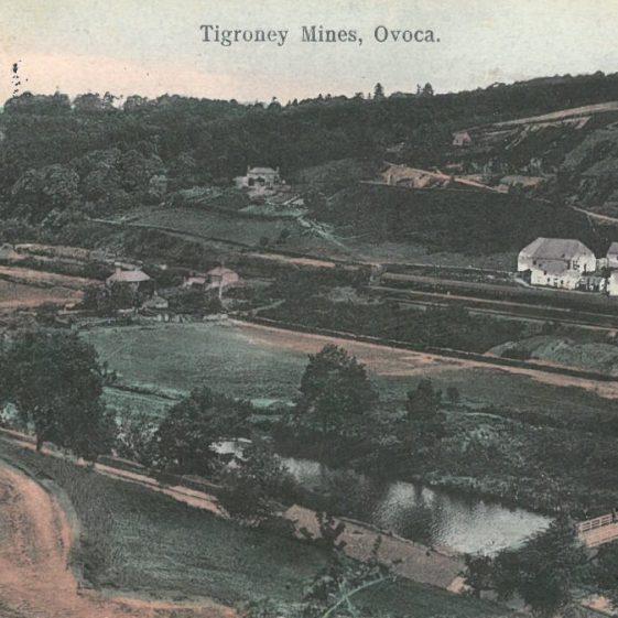 Postcard - Tigroney Mines, Ovoca, 1903